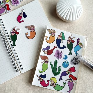 * Own hand-painted stickers stickers Mermaid cut fat