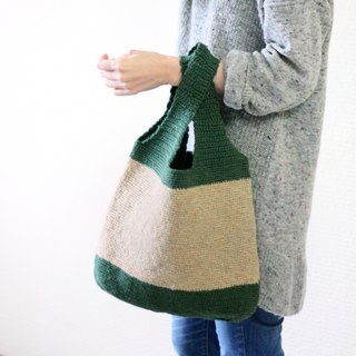 Dark green vest hemp rope bag