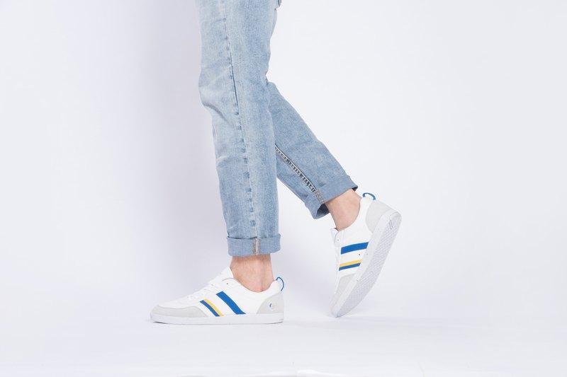 寶特瓶製休閒鞋  Opale休閒系列    白/電光藍   男生款