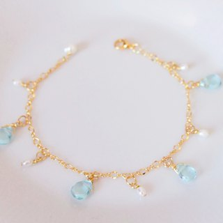 Anniewhere | Sway | Faceted Crystal Mini Pearl Bracelet / Anklet