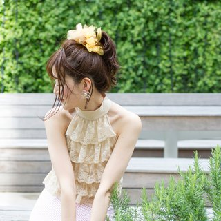 Sunflower | Blooming Sakiami Colourful Hair Scrunchy / Hair Accessory / Hair Tie