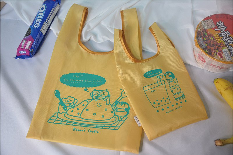 Eco-friendly bag/eat and drink milk tea color pearl milk tea curry rice