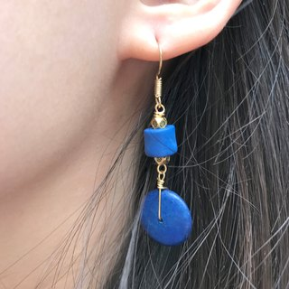 Why Not? Also! Coconut Shell Earrings BLUE