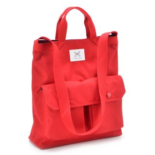 LaPoche Secrete: Wen Qing Gift _ Chaoyang Red Waterproof Canvas Bag _ Can carry shoulder A4