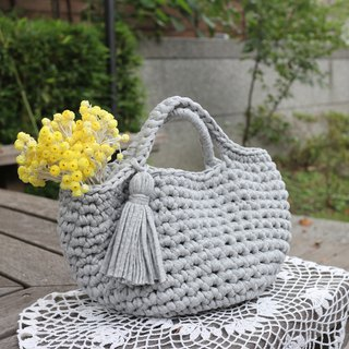 Handmade-woven cotton-tassel handbag-TSHIT-Travel/Light travel/Birthday gift