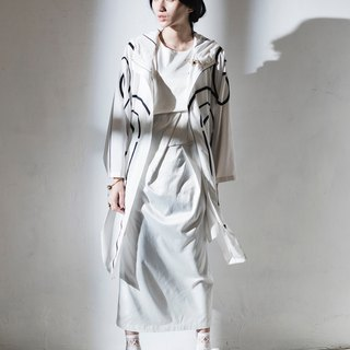 JUBY CHIU / white cut-fitting dress