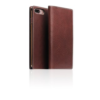 SLG Design iPhone 8 / 7 Plus D6 IMBL handmade line top leather holster - brown