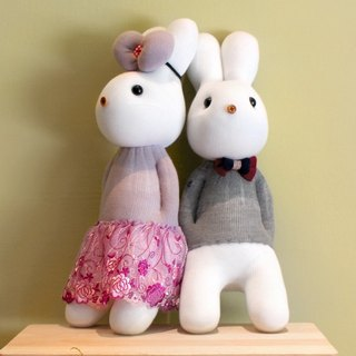 Handmade healing system - Unforgettable style (male rabbit + female rabbit purple) design models