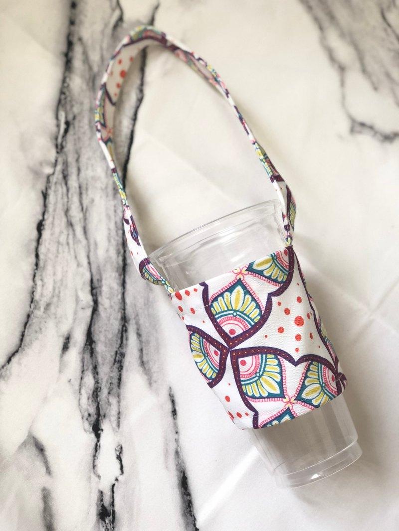 自家 手繪 創作 飲料杯套 環保杯套 提袋 Henna Mandala 彩繪