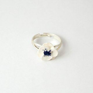 Poppy Anemone Ring =Flower Piping= Customizable