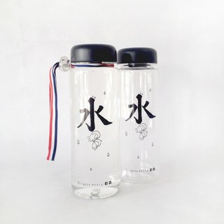 Drink More Water! Illustration Silkscreen Printing on BPA Free Water Bottle 500ml