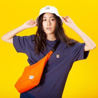 【Pjai】Oversized Pocket T-shirt- Navy//Orange//Grey (TP648)