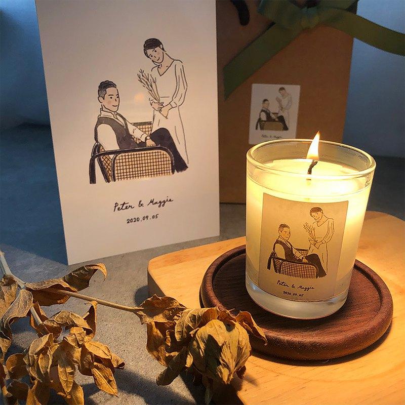 大豆蠟燭 - 70g玻璃蠟燭 伴娘禮物 婚禮小物 禮贈品 客製訂製