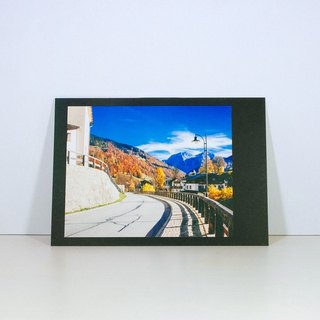 Photographic Postcard: The road, Ramsau bei Berchtesgaden in autumn