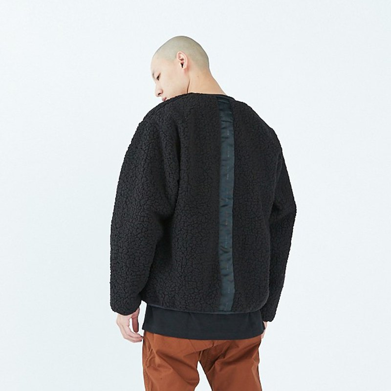 [IONxPUREGO] Different material stitching coat