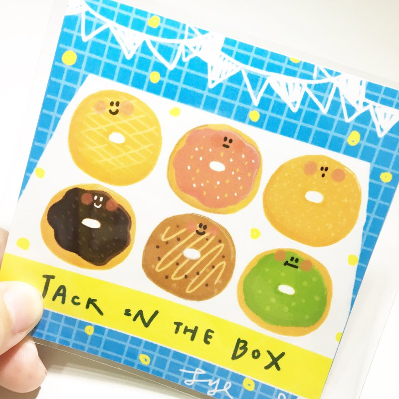 Jack in the box funny donut cutter sticker