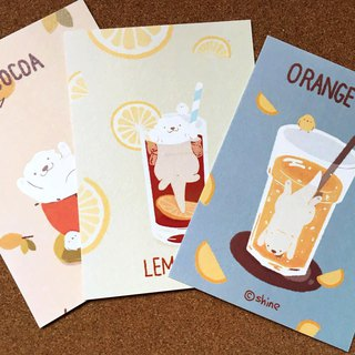 Drink の cute otter healing illustrations postcards 3 into