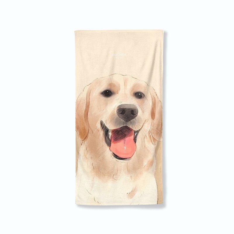 拉布拉多款-浴巾小毯
