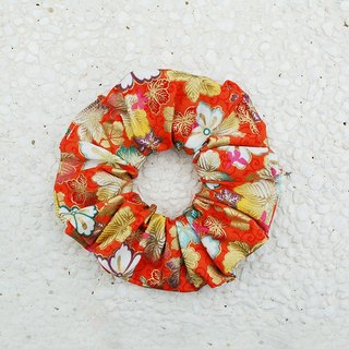 Glittering colorful leaves hair bundles / large intestine donut hair ring