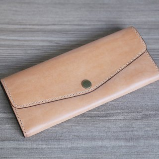 Arts and a small | vegetable tanned leather leather long clip simple and practical Mother's Day gift
