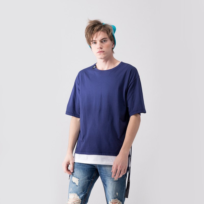 UNISEX DUAL COLOR T SHIRT / Navy