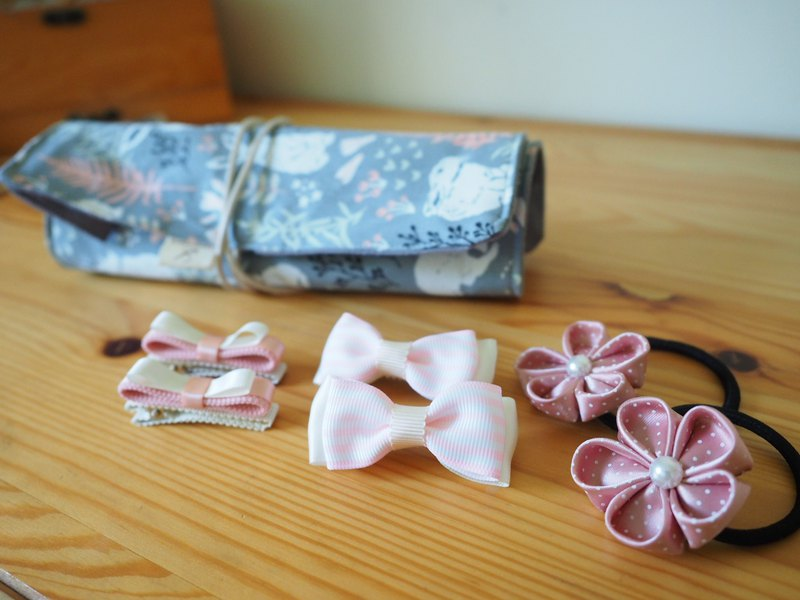 Handmade Hair accessory with bag (clip/ band/ corsage)