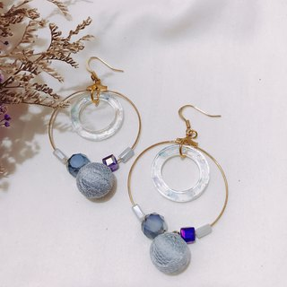 Lace Planet Girl - Pink Blue Drop Earrings Ear Clips