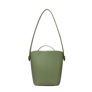 Green cowhide bucket honey color tote bag two in one detachable independent mother bag large capacity shoulder bag