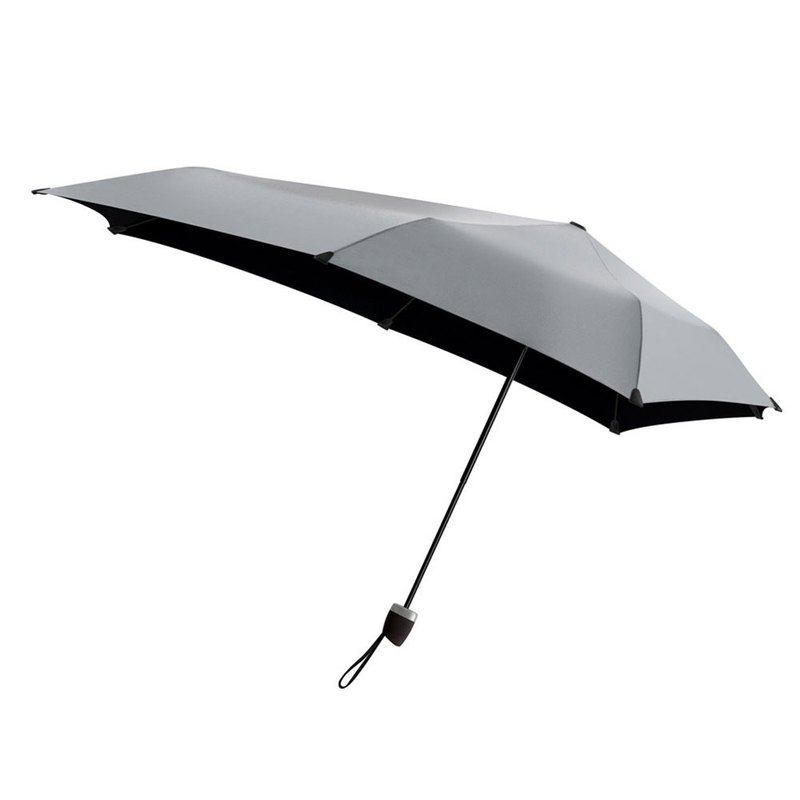Netherlands Genz Lightweight Folding Windproof Umbrella - Silk Grey