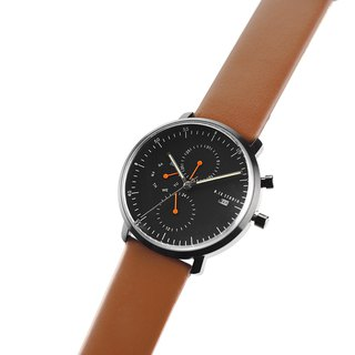 Minimal Watches : MONOCHROME CLASSIC - Limited edition/Leather (Brown)