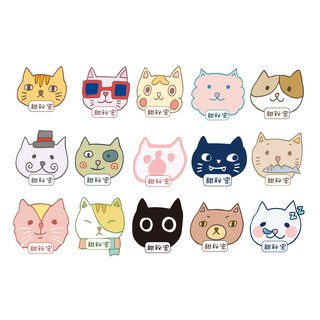 45 custom name stickers / cat models