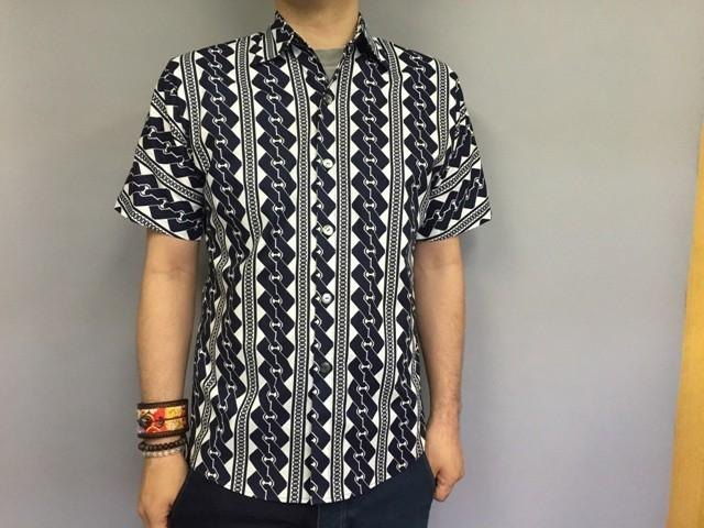 Short-sleeved shirt Japanese Pattern (Yoshihara tie)