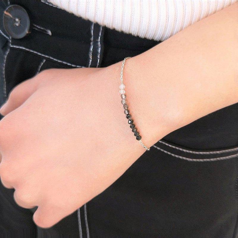 │輕奢│黑髮晶 • 天然石 • 925silver • 純銀手鍊 • 純銀