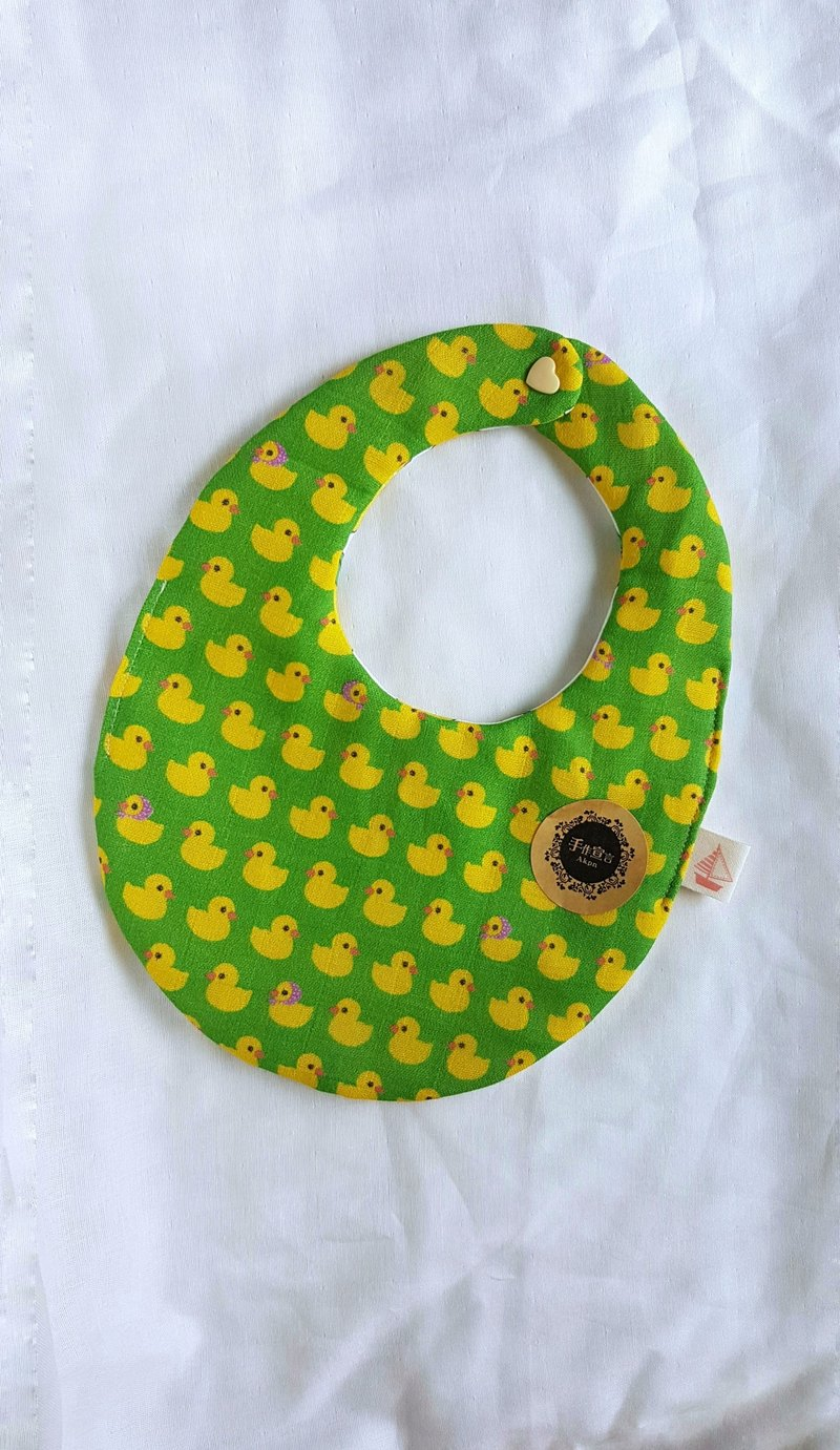 Yellow Duck Eight Layers 100% Cotton Double Sided Egg Bib
