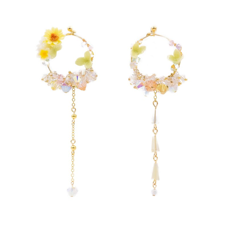 Sunshower Gold-plated 925 Silver Bouquet Earrings