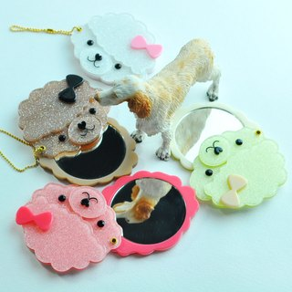 Poodle.Poodle << Rotary Hand Mirror, Makeup Mirror, Pill Mirror >>