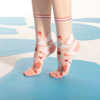 Glacial Lake Salmon Sheer Socks | transparent see-through socks | colorful socks