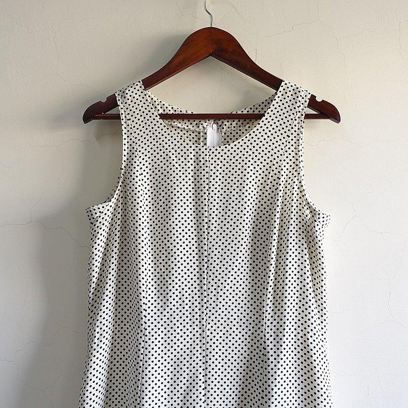 Slowly古著/Vintage/水玉點點/古著洋裝