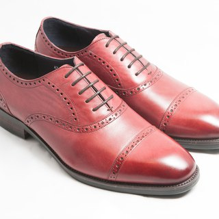 [LMdH] E1A18-79 hand-colored calfskin leather wood with Cape philosopher Oxford shoes leather shoes men's shoes - burgundy - free shipping