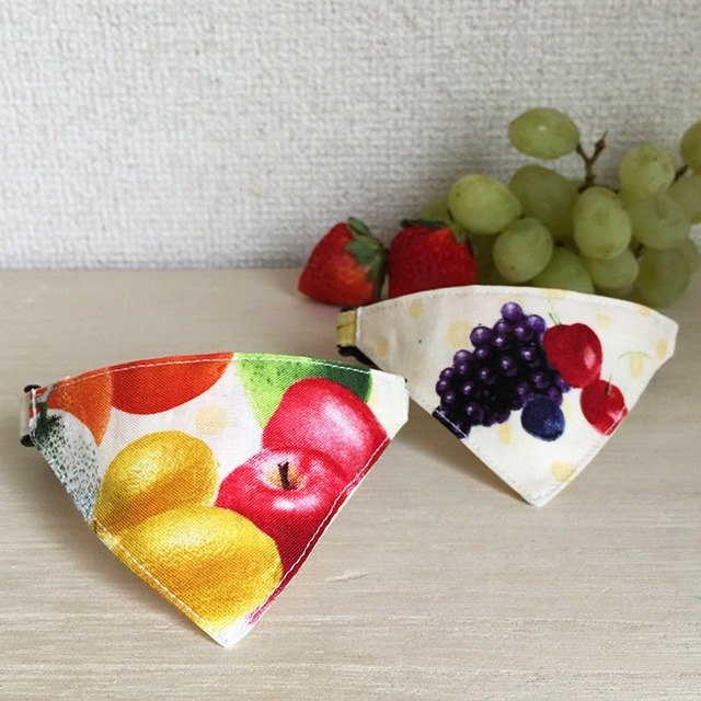 Bandana style safety collar Fruit handle yellow