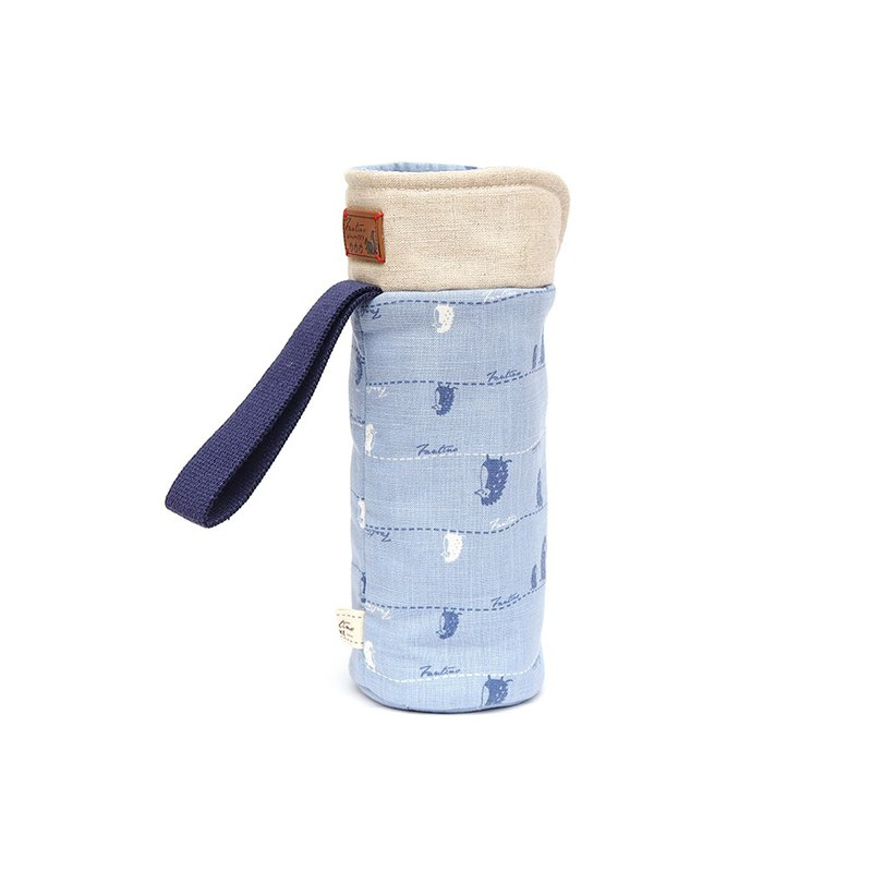 Insulation anti-collision water bottle bag - walk in the first line - sky blue