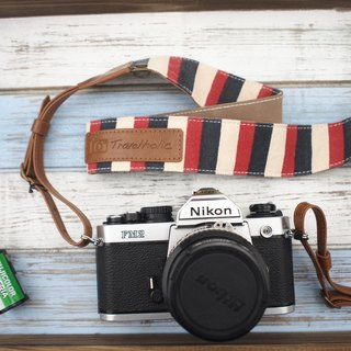 Travelholic Camera Neck Strap (French Stripes)