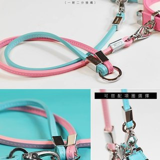 """CHIC DOG""] [leather leather leash leather leash handle a pair of two"