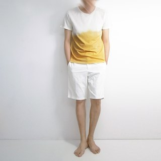 I. A. N Design natural dyed T-shirt mustard yellow Organic Cotton