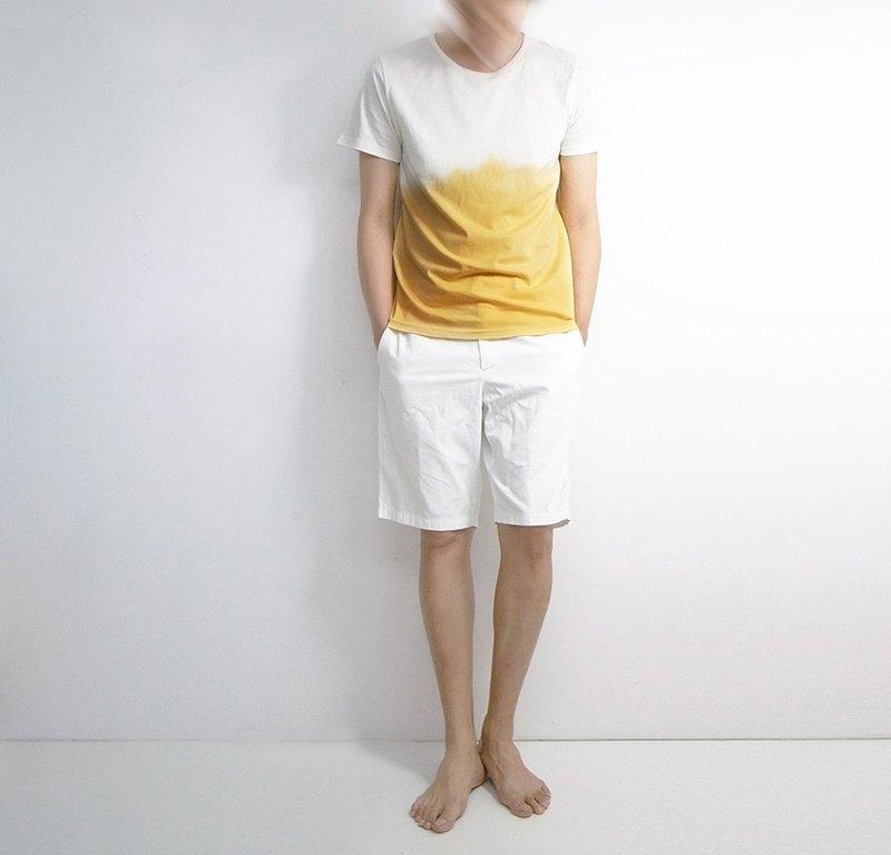 I . A . N Design 山梔子 天然染T恤  Organic Cotton
