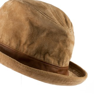 Early autumn - suede maroon gentleman hat ITA BOTTEGA [Made in Italy]