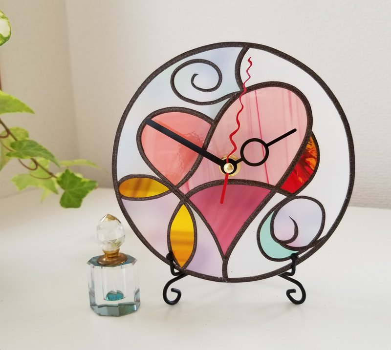 Reversible Round  hanger / desktop watch  Fairy Heart2
