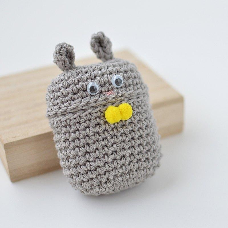 AirPods 保護套 灰色 兔子
