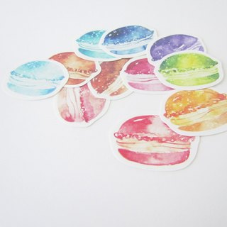 Color macaron sticker set
