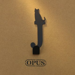 [OPUS Dongqi Metalworking] When the cat encounters the letter J - Hook (black) / styling hook / no trace /